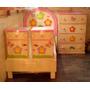 Recamara Infantil 5 Piezas: Cabecera, 2 Buros,base Y Caj.