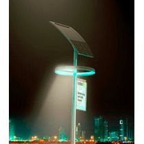 Kit Lampara Solar Led 20 Watts Tecno Lite + Panel Solar+ Bat