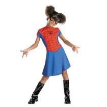 Disfraz Niña Hombre Araña Spider Girl Vestido Lujo (3t-4t)