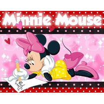 Kit Imprimible Minnie Mouse, Invitaciones Y Cajitas