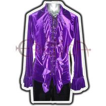 Camisa Terciopelo Eretica Ropa Dark,gotico,metalero Hombre 2