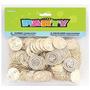 Plástico Oro Tesoro Monedas 144ct