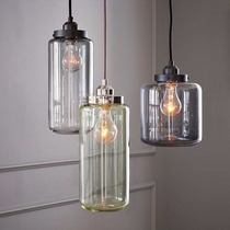 Lampara 3 Luces Botella Vintage Retro Colgante Bulbo Edison