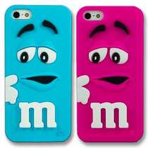 Funda 3d M&m Case Chocolate Iphone 4 4s Azul Y Rosa