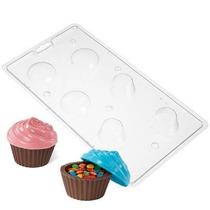 Molde Para Hacer Recipiente Cupcake De Chocolate Y Caramelo