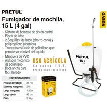 Fumigador Aspersor De Mochila 15lt Uso Jardineria Y Agricola