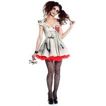 Disfraz Mujer Muñeca Vudu Halloween Adulto Voodoo Doll