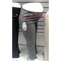 Pantalón Maternidad Vestir Con Bolsa