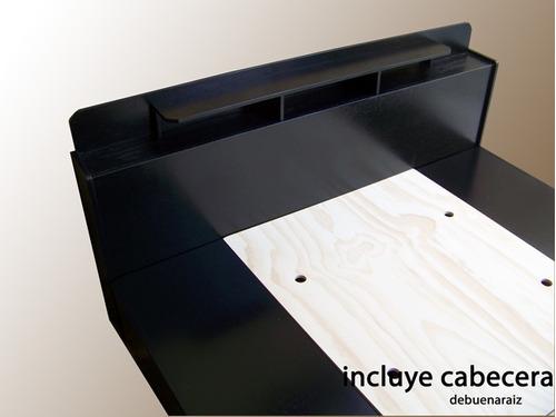 Base para cama recamara minimalista 100 madera muebles for Como hacer una base para cama individual