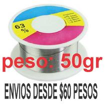 Rollo De Soldadura 0.3mm 50gr 63/37 Con Flux Al 1-3%