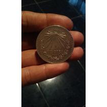 Moneda De Plata De Un Peso Del Año 1921