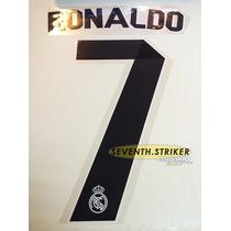 Tipografia Ronaldo Real Madrid 14-15 Numeracion Nombre