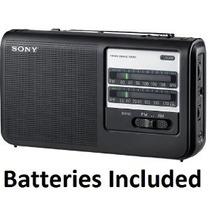 Sony Práctico Portable Radio Am / Fm Con Baterías Incorporad