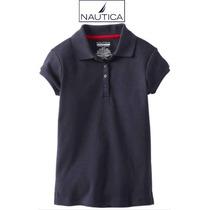 Envio Blusa 5 Anos Nina Nautica Polo Azul Marino Playera