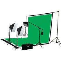 Kit Profesional Para Fondo Verde Fotografía Iluminación