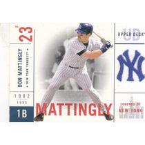 2001 Upper Deck Legends Of Ny Don Mattingly Yankees