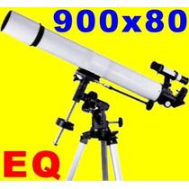 Gran Telescopio E Q 900x80 Acromatico Software Meade Ocular
