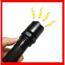 Lampara Tactica Led Con Descarga Electroshock Toques Hm4