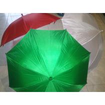 Paraguas/ Sombrillas De Tela Infantil Blanco, Verde Y Rojo