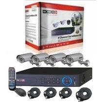 Kit Vigilancia Provision Dvr 4 Canales + 4 Cam Bala Sa-4100s