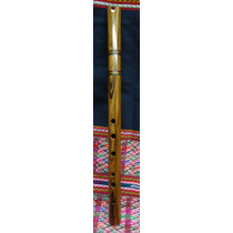 Quenacho De Madera Jacarande. Instrumento Musical De Viento