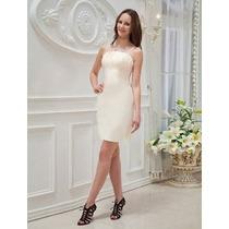 Vestido De Novia Corto Boda Civil Envio Gratis Mod.0029