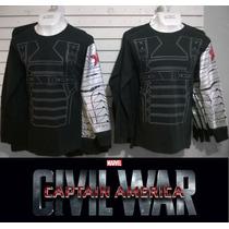 Playera Capitan America, Marvel, Civil War, Soldado Invierno