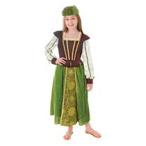 Maid Marion Costume - Chicas Pequeñas 116cm 3-5 Años Medie