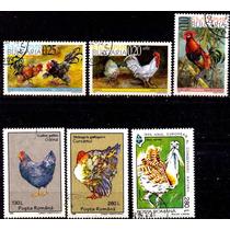 1152 Gallinas Aves Corral 6 Sellos Cto N H Modernos