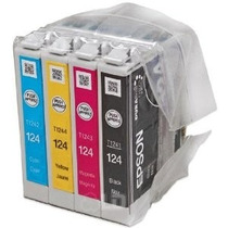 Kit De 4 Cartuchos Originales Epson 124