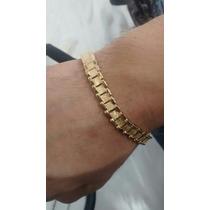 Pulsera Estilo Rolex Oro Laminado 2 Vistas
