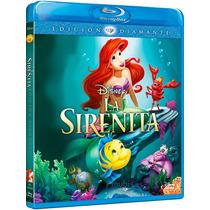 4 Princesas Disney En Blue Ray Incluye La Sirenita, Enredad