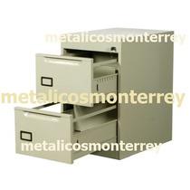 Archivero Metalico Color Arena O Negro Oficina Archivo 2 Gav