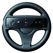 Volante Para Control Nintendo Wii Generico Blanco Y Negro