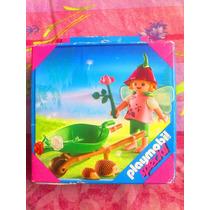 Playmobil Set De Nina Con Alas Y Puercos Espin