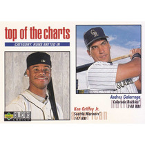 1998 Choice Top Charts Ken Griffey Jr Andres Galarraga