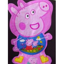 Globo Peppa Pig Doble Vista Con Cascabel Fiesta