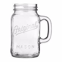 Mason Jar 30 Oz Con Asa Marca Original Sin Tapa