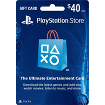 Tarjeta Psn Card $40 Dolares (playstation Network) Americana