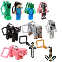 Tb Official Minecraft 3 Toy Action Figure Hanger Set
