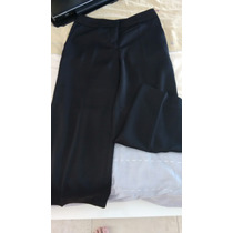 Pantalón De Vestir Capri Negro Talla 4