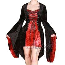Vestido Corto Corset Gotico Terciopelo Dark Goth Medieval