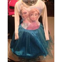 Disfraz - Vestido Elsa Y Anna Frozen Con Peluca Hermoso Tutu