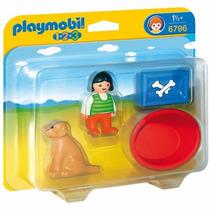 Playmobil 6796 Niña Con Perro 1.2.3 Ciudad Retromex