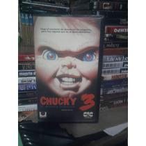 Vhs Original Chucky 3 Muñeco Diabólico Terror Leatherface