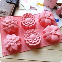 Allforhome (tm) 6 Flores De Silicona Muffin Copas Jabón Hech