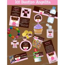 Kit Para Imprimir Bautizo Dulces Personalizados