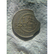 Moneda Doble Error 20 Pesos 1982