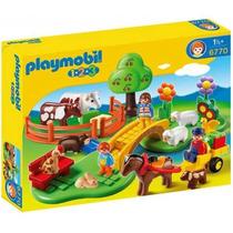 Playmobil 6770 1.2.3 Prado De Animales!!