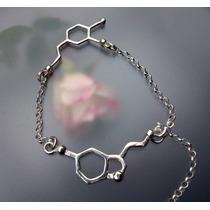 Joyería Pulsera Amor Pasión Forma Dopamina Molécula Plata